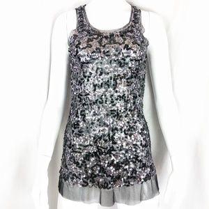 EUC Joyce Leslie Sheer Sequin Tulle Mini Dress